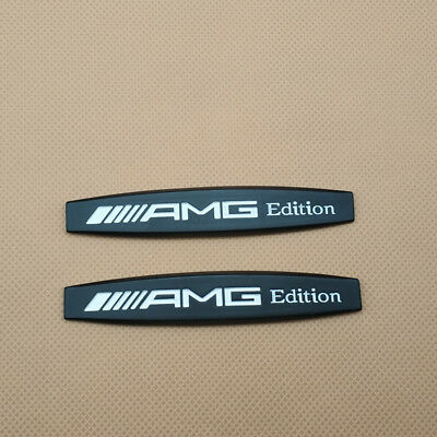 2Pcs Metal AMG Edition Logo Black Car Emblem Side Fender Badge Sticker Decal for sale  Shipping to Canada