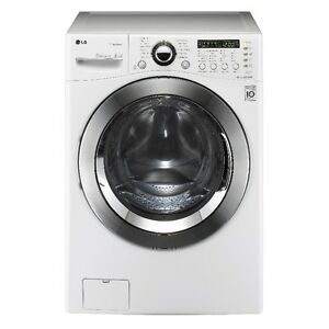 High Capacity White LG Front Load Washer and Dryer