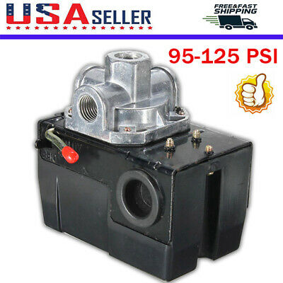Pressure Switch Control Valve Air Compressor 195-125psi 4 Port Heavy Duty 26 Amp