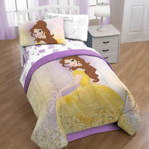 *New* Disney Beauty & The Beast Belle En Rose Twin/Full Bed Set