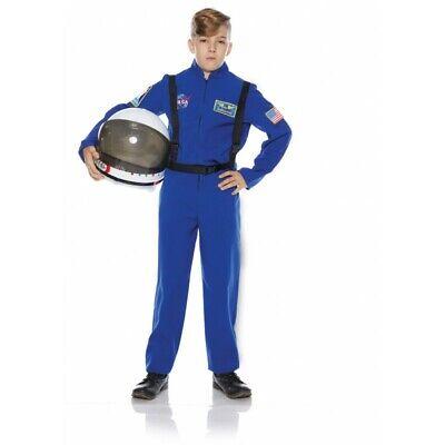 Underwraps Astronaut Flight Suit NASA Blue Childrens Halloween Costume 25723 Childrens Flight Suit