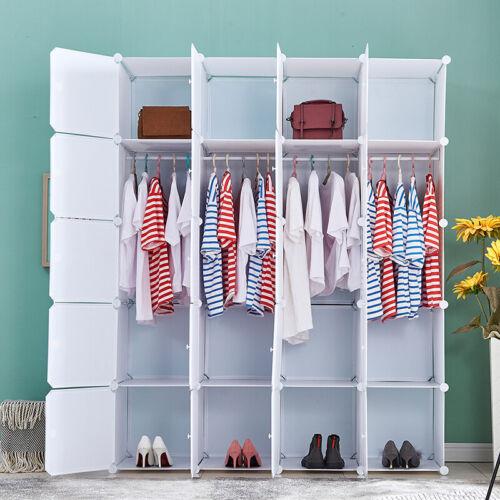 DIY Clothes Cabinet Portable Wardrobe Cube Clothe Closet Space Storage Organizer