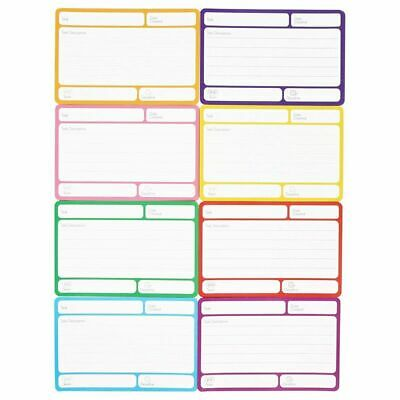 40 Pack Magnetic Dry Erase Labels Index Cards For Classroom 8 Colors 6 X 4 In.