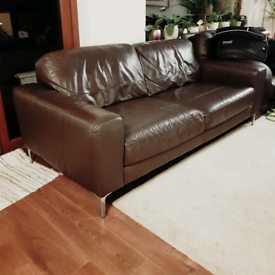 Sofa leather with delivery asap