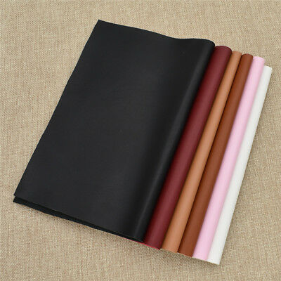 1x A4 Soft Smooth PU Leather Synthetic Fabric DIY Sewing Material for Clothing
