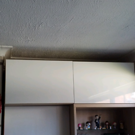 Ikea Besta wall units x2 - light oak frames with white gloss doors