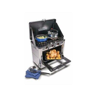 Horno + cocina dos fuegos de gas portátil Bayasun para camping y...