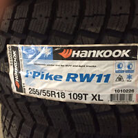 Brand New Hankook i Pike RW11 255/55R18 winter tires.