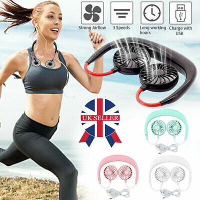 Bladeless Hanging Neck Fan Portable Air Cooler Mini Rechargeable Lazy Sport Fans