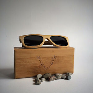 VAMBOO Biodegradable Hand Crafted Bamboo Sunglasses and Case