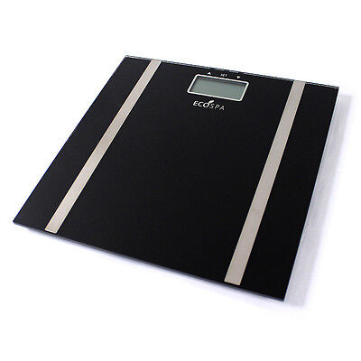 Digital Bathroom Weighing Body Scales Analyse BMI Fat Water Electronic Glass LCD