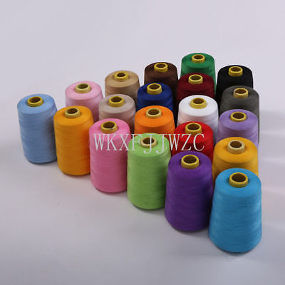 8000 Yards Industrial Overlock Sewing Machine Polyester Thread Sewing 20colorMIX