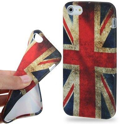 iPhone 5 / iPhone 5s SchutzHülle Retro Königreich-Markierungsfahnen Art TPU Fall