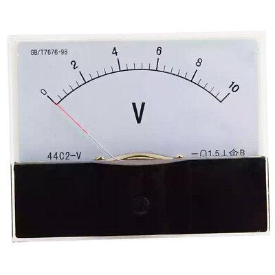 1pc Dc 10v Analog Panel Volt Voltage Meter Voltmeter Gauge 44c2