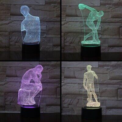 Sculptured Night Light - 3D Architectural Sculpture Night Light 7 Color Change LED Desk Lamp Touch Decor