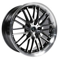 "MAGS BAD BOY MAYOR NOIR ET ARGENT MACHINÉ 17"" 5X114.3"