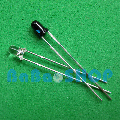 10pcs Launch Emitter 10pcs Receiver 3mm 940nm Ir Infrared Diode Led Lamp New
