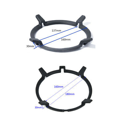 Black Cast Iron Wok Pan Stand Support Rack For Burners Gas Hobs Cookers Tools