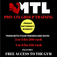 Group training specials !!! 514-431-5555