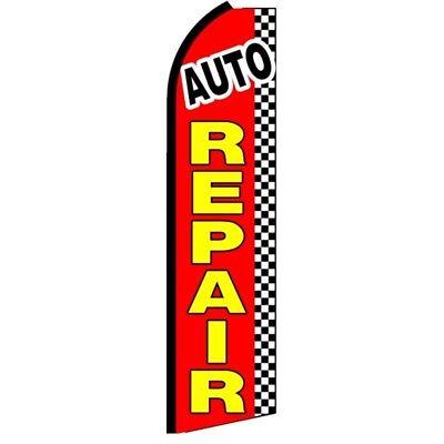 Auto Repair Swooper Half Curve Advertising Premium Wide Flag