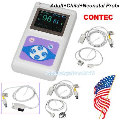 Contec Pulse Oximeter Handheld Spo2 Pr Monitoradultchildinfant Probe Ce Fda