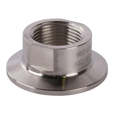 Tri Clamp to Short FNPT Adapter | 3/4 inch x 1.5 (1 1/2) Sanitary - Tri Clamp Adapter