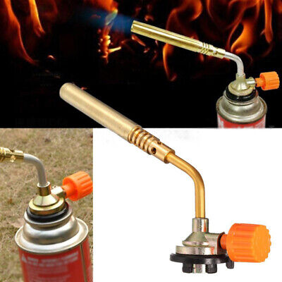 Blow Torch Butane Gas Flamethrower Burner Welding Hand Ignition Soldering BBQ x1