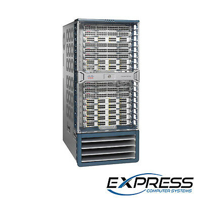 Cisco Nexus C7018 | 2x SUP1 | 16x M202CF-22L | 4x AC-6.0KW | 5x C7018-FAB-2