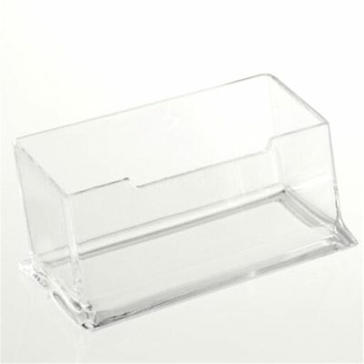 Clear Acrylic Plastic Desktop Business Card Holder Display Stand Desk Shelf Am5x