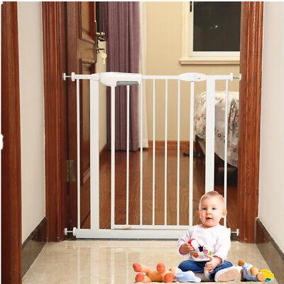 Adjustable Dog Gate Indoor Tall Pet Fence Baby Barrier Walk Thru Swinging Door