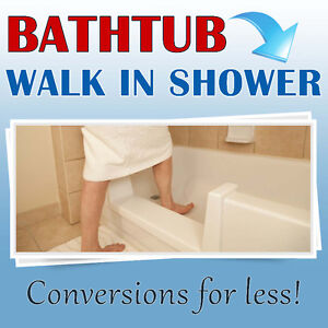Bathtub to walk in shower conversions - Save thousands