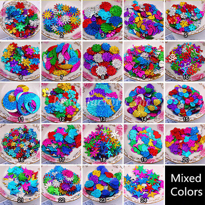 Mixed Colors Shimmer Loose Sequins Paillettes DIY Sewing Craft for - Shimmer Clothes
