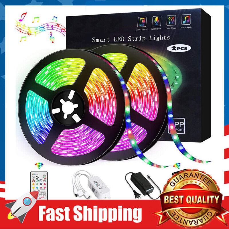 32.8ft RGB LED Strip Lights Kit 300 LED Color Changing Remot