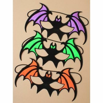 HALLOWEEN BAT ORANGE GREEN PURPLE FACE MASK FANCY DRESS UP HALLOWEENS MASKS UK - Halloween Face Mask Uk