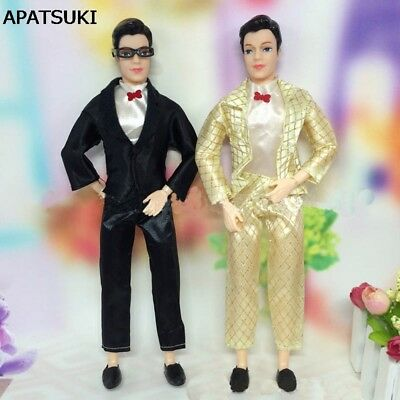 1set Doll Clothes For Ken Doll Men Business Suit With White Shirt For Boy - White Suits For Boy