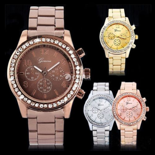 $3.78 - Luxury New Ladies Women Girl Unisex Stainless Steel Quartz Analog Wrist Watch