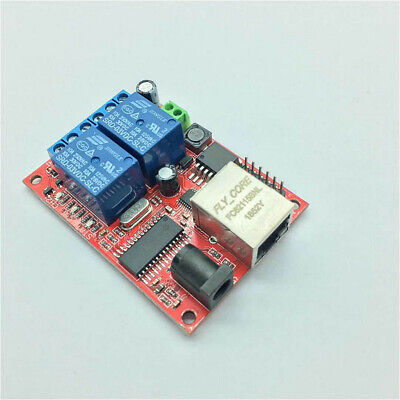 2-way Lan Ethernet Relay Board Delay Timer Switch Tcpudp Controller Web Server