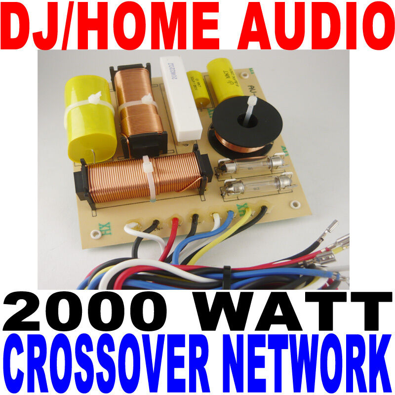 2000 WATT DJ/HOME AUDIO CROSSOVER NETWORK 3-WAY NEW!