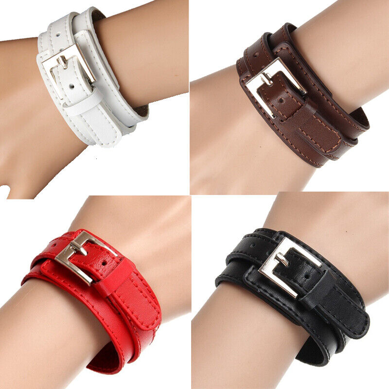 Double-layer Adjustable Leather Bracelet Punk Casual Cuff Women/Men's Gift US Bracelets