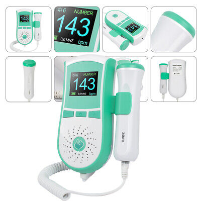 Portable Baby Heart Monitor Pocket Fetal Doppler High Sensitivity Clear Sound