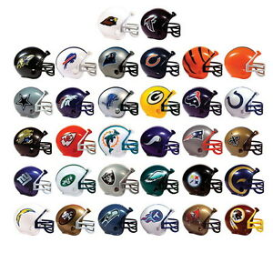 MINI NFL FOOTBALL HELMETS, COLLECTIBLE COMPLETE SET OF ALL 32 TEAMS GREAT PRICE!