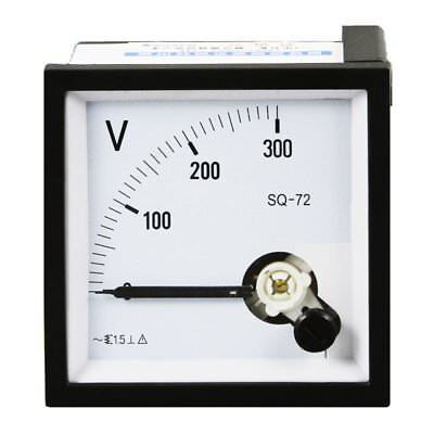 1pc 0-300v Analog Panel Voltage Meter Voltmeter Gauge Sq-72 Ac Class 1.5