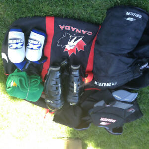 Youth hockey equipment and bag -- $50.00