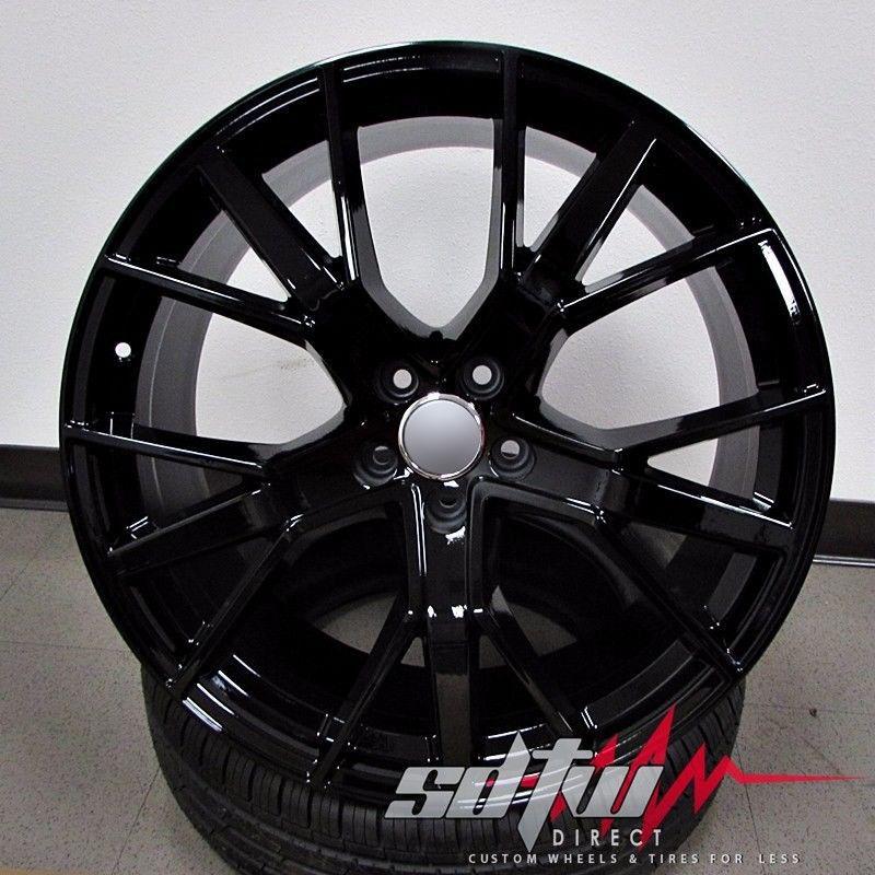 "21"" 1332 Sq7 Style Wheels Gloss Black W Tires Fits Audi Q5"