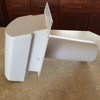 """As New - Maximum 4"""" White Wall Exhaust Vent"""