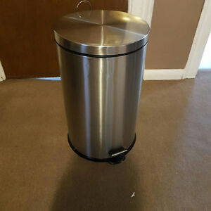 Never used 50L stainless steel trash can $60