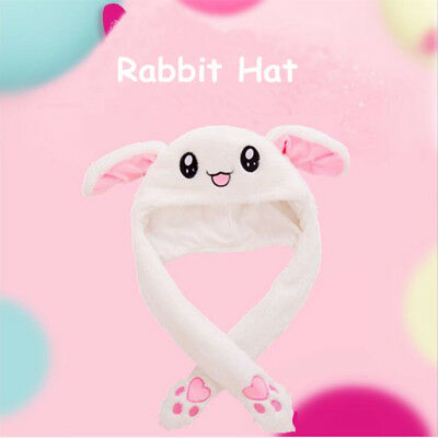 1x Cute Bunny Plush Hat Funny Hand Pinching Airbag Ear Up Down Rabbit Gift Toy for sale  Shipping to Canada