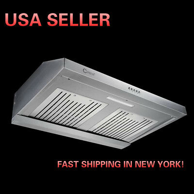 CYBER® Classic Seamless Stainless Steel Under Cabinet Range Hood 30
