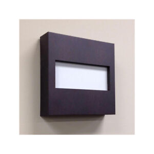 Hampton Bay Door Bell - Espresso with White Insert