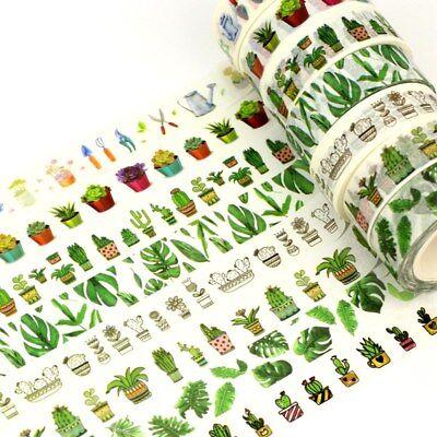 Decor Succulent Cactus Washi Tape Mask Paper Scrapbook 1.5cm*10m Adhesive Tape